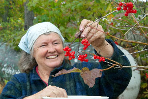 Jinny with Highbush Cranberries